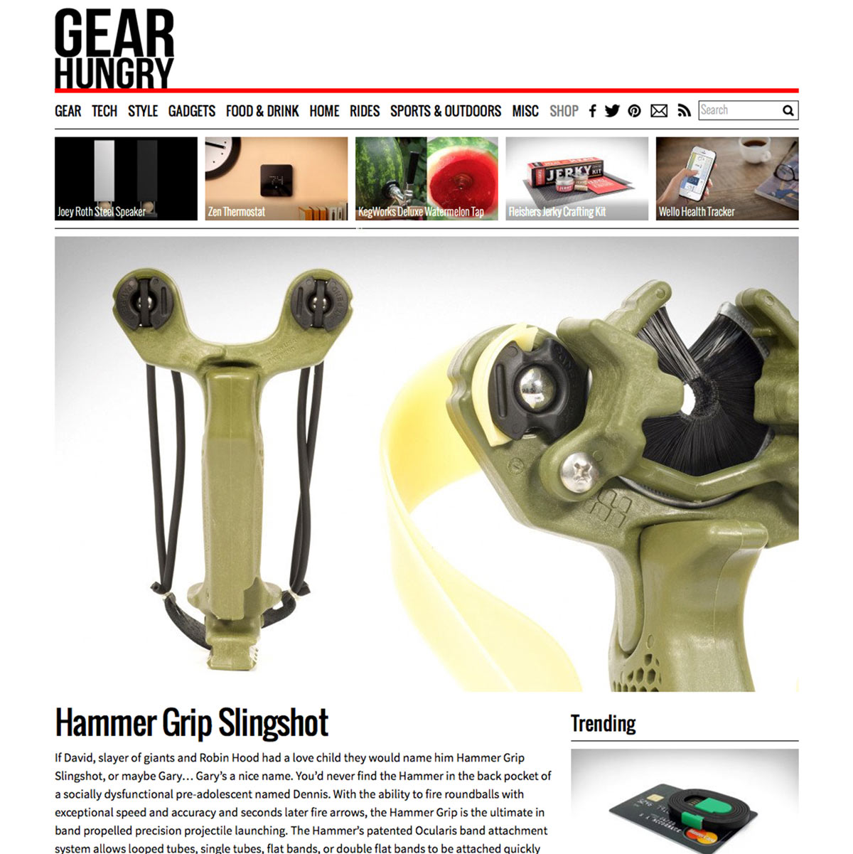 Gear Hungry Hammer Slingshot / Slingbow Review