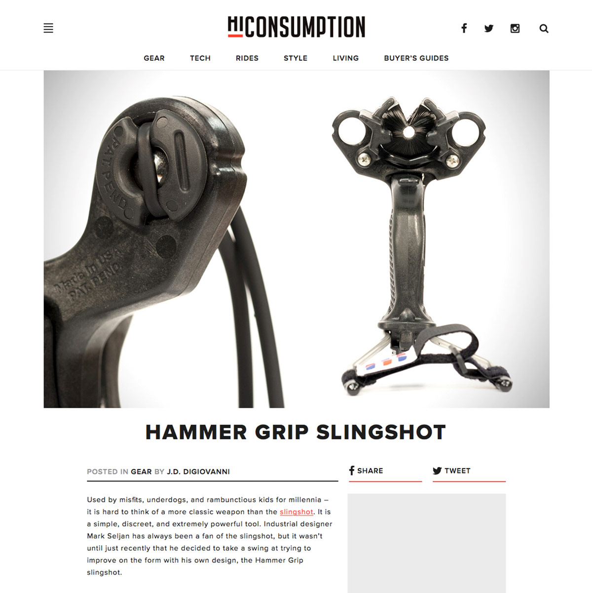 HiConsumption Hammer Slingshot / Slingbow Review