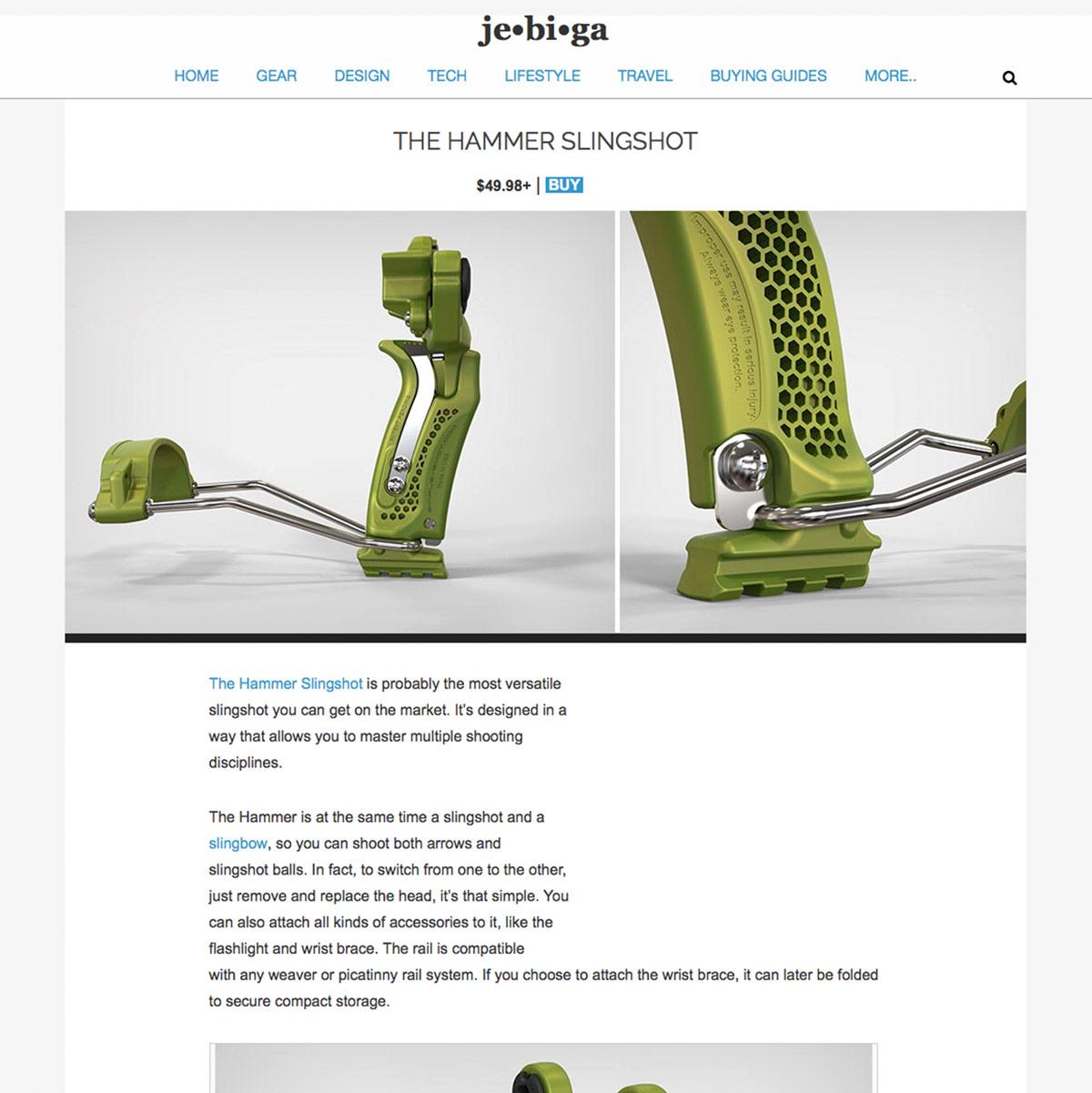 Jebiga Hammer Slingshot / Slingbow Review