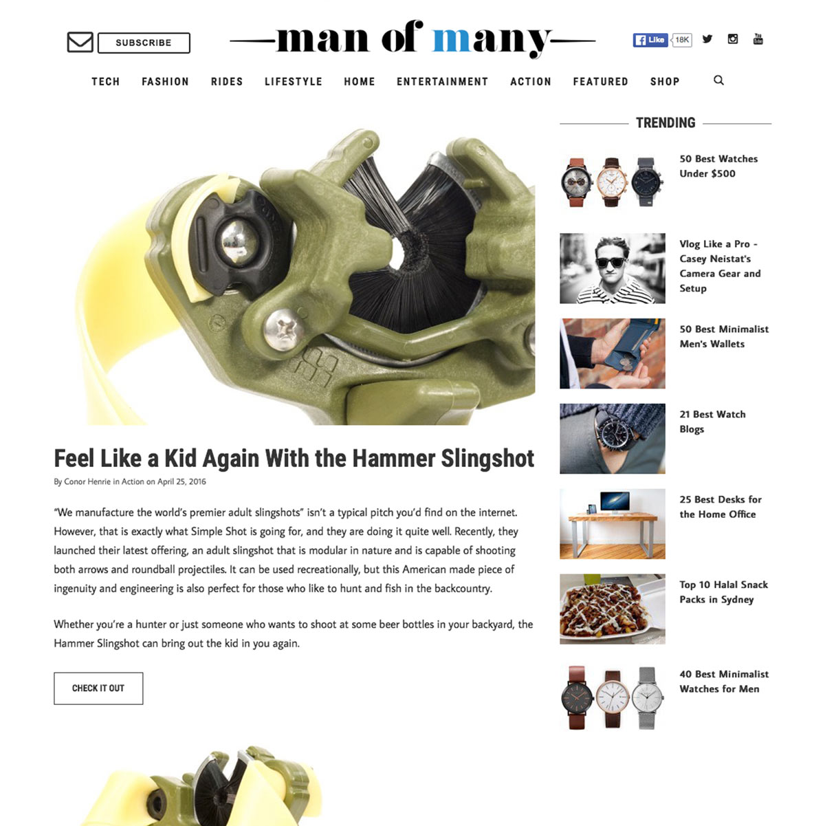 Man of Many Hammer Slingshot / Slingbow Review
