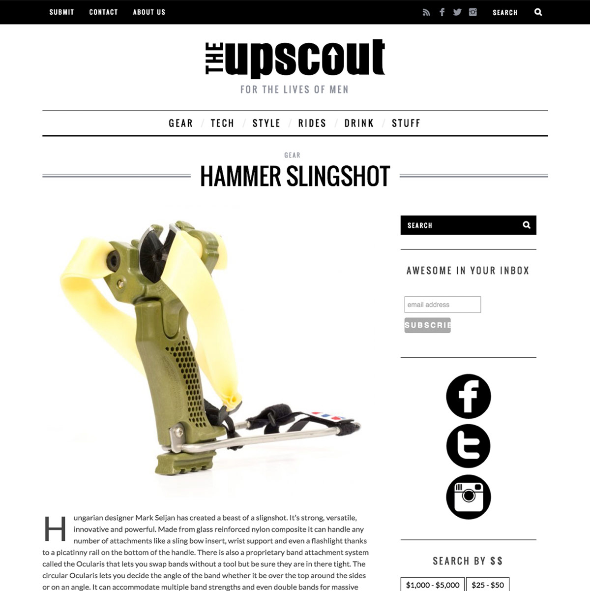 Upscout Hammer Slingshot Review