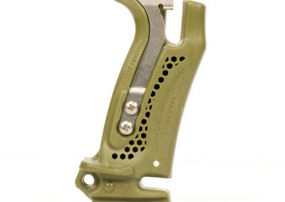 Hammer grip profile (quick release profile view in green)