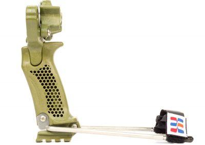 Hammer Slingshot / Slingbow - hammer grip, brace, green