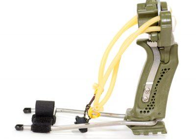 Hammer Slingshot / Slingbow - brace, powerful bands, green